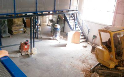 Obras en taller y oficinas de IDFA
